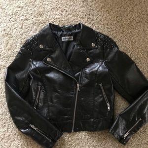Girl jacket leather imitation Size 11-12years Old